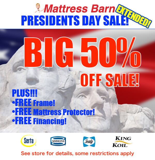 50 Off Mattress Sale: Mattress Barn 50% Off Sale